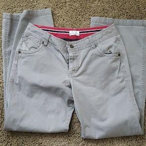 Dockers Favorite Fit Gray Pants, wide leg. Size 8
